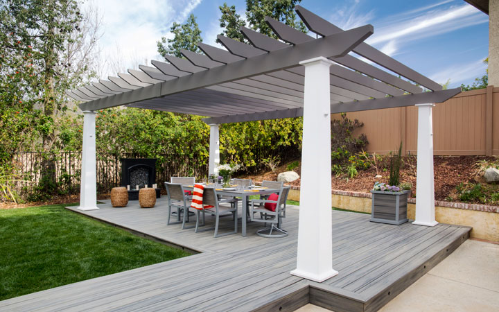 Low Maintenance Engineered Pergola Kits by Trex