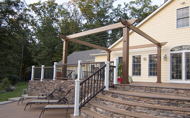 Trex Pergola Vision with Stainless Steel Cables