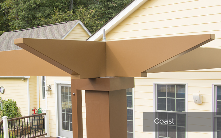 Trex Pergola Vision Coast End Detail