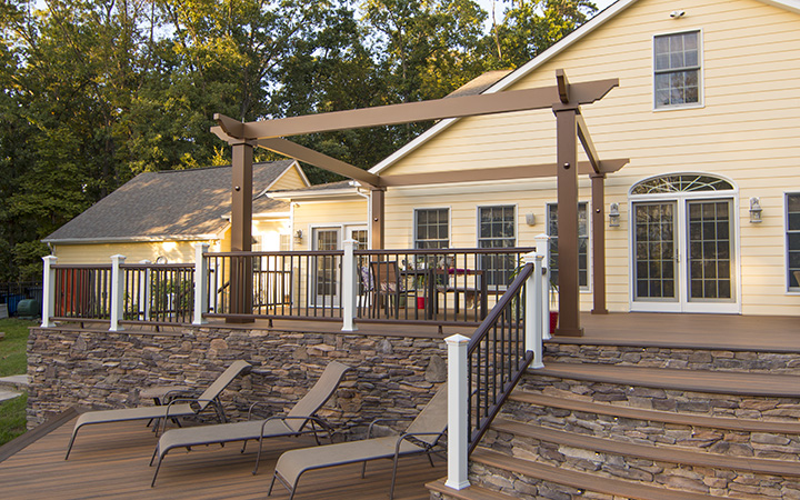 Trex Pergola Vision with Open Frame