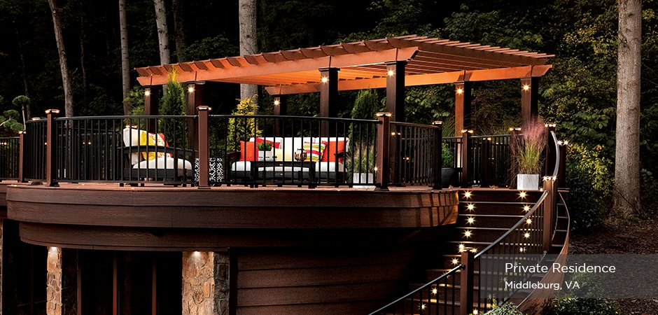 Custom Trex Pergola with lighting