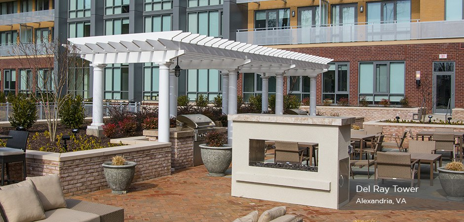 Commercial Pergola Del Ray Tower Trex Pergola