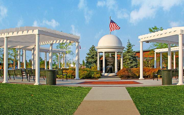 Custom White Trex Pergola at Clarksville Memorial Site