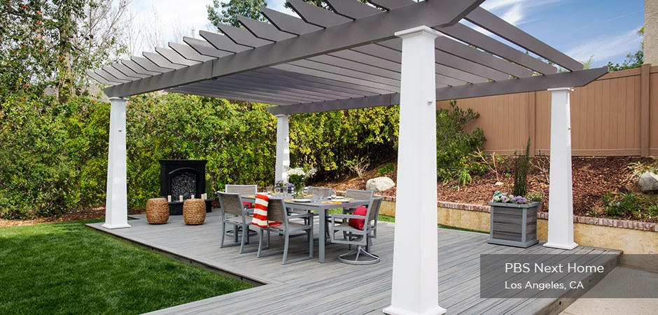 PBS Next Home Trex Pergola