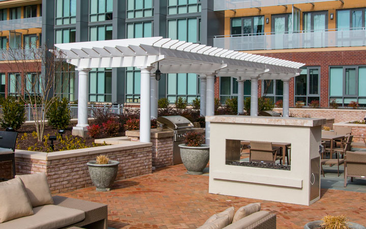 Commercial Trex Pergola Del Ray Tower Alexandria Virginia