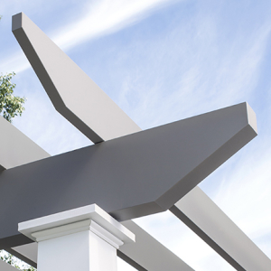 Mondern Pergola Decorative End Detail With Monoseam Technology By Trex