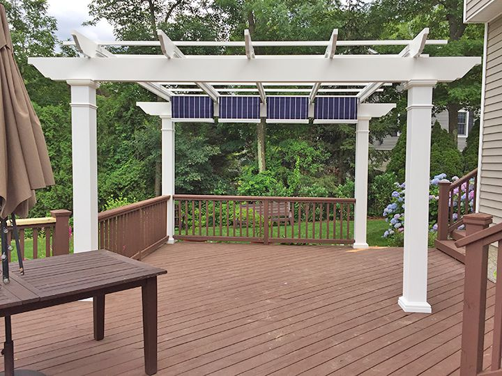 Trex Pergola Kit with Retractable Canopy – Long Island - Trex Pergola Kit With Retractable Fabric Canopy - New York