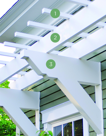 Low maintenance engineered pergola kits by trex wall pergola kit diy components solutioingenieria Gallery