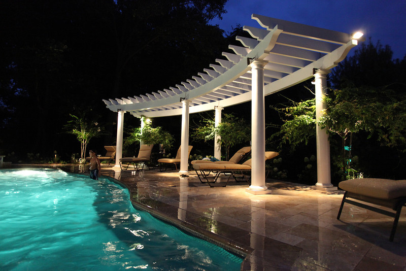 Custom Curved Trex Pergola Kit New Jersey