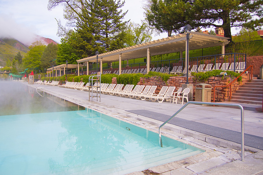 Glenwood Hot Springs Pool Two Low Maintenance Trex Pergolas