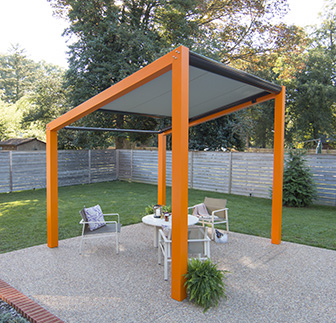 Trex Pergola Air with Half Open Canopy
