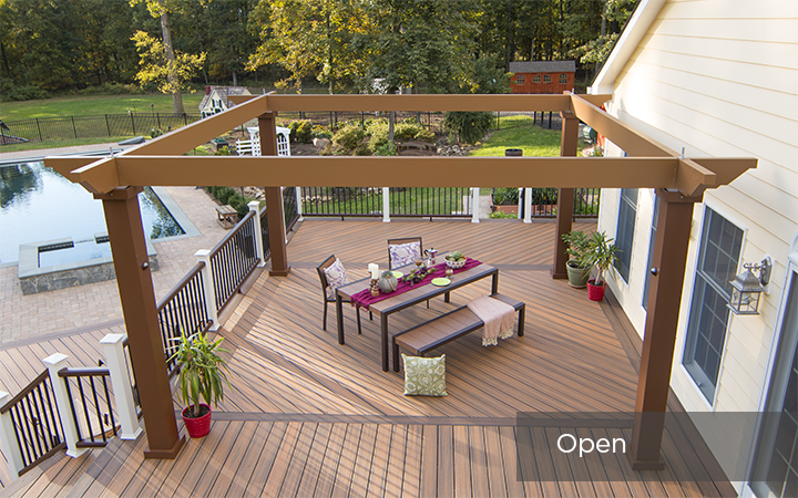 Trex Pergola Vision Open Frame with Outdoor Dining Area