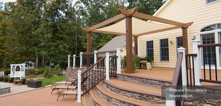Trex Pergola Vision with Tension Canopy