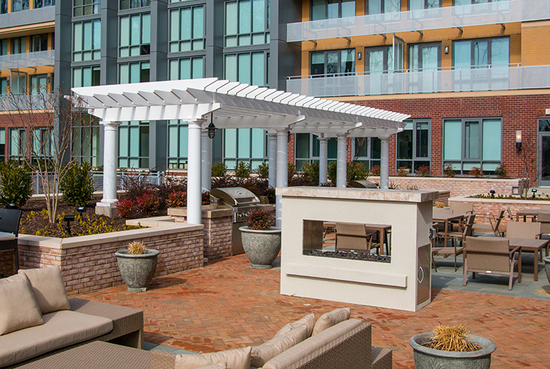 Low Maintenance Trex Pergola Kits in cPVC