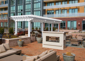 Trex Pergola Del Ray Tower Outdoor Living Area