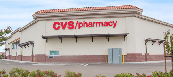 Custom Trex Wall Pergolas on CVS Pharmacy Drive Thru in Livingston California