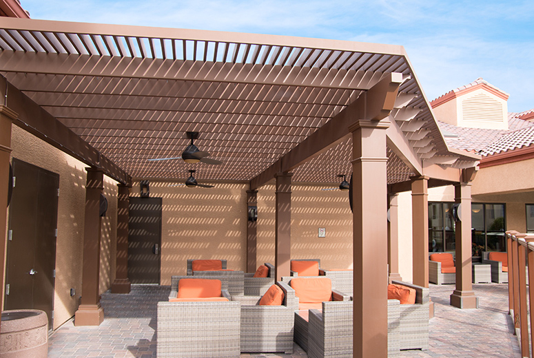 Holiday Inn Resort Custom Trex Pergola Kit In Las Vegas