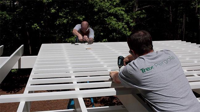 Installing a freestanding Trex pergola