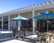 Double Trex Pergola Kit Over Shopping Center