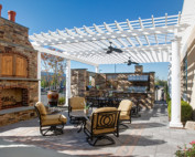 Trex Pergola Outdoor Kitchen Showroom with Integrated Electric