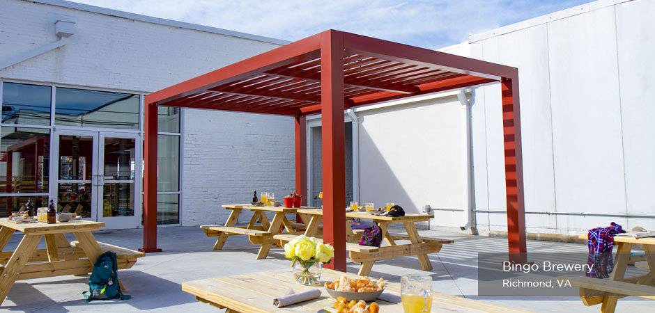 Trex Pergola Element at Bingo Brewery