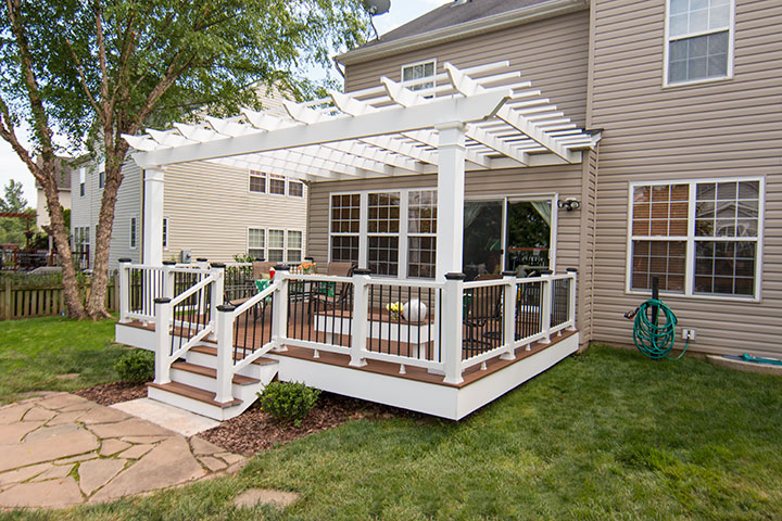Attached Trex Pergola On Deck